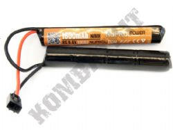 Nuprol Airsoft 9.6V Nimh 1600mAH Nunchuck Crane Stock Battery Pack Small Tamiya